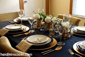 Gold Table Setting by Table Setting With Gold And Navy And Antlers Heidikins Cooks