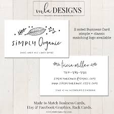 simple business card 2 sided business card double sided