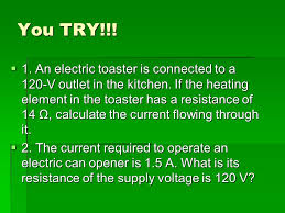 Heating Element In Toaster Electrical Resistance And Ohm U0027s Law The Electric Current
