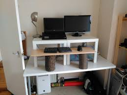 create a cheap easy and quick diy stand up desk nest and glow