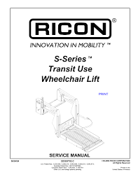 ricon wiring diagram s series transit use wheelchair lift ricon