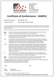 active silicon certifications