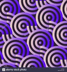 geometric targets seamless pattern in purple shades stock photo