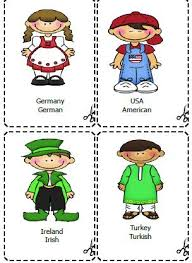 and nationalities flashcards