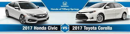 2017 honda civic vs 2017 toyota corolla in kansas city mo