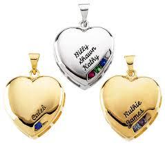 personalized heart pendant birthstone heart charm pendant 4 capacity 8030
