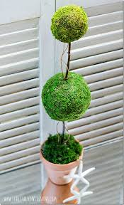 Topiary Balls With Flowers - how to make a topiary it all started with paint
