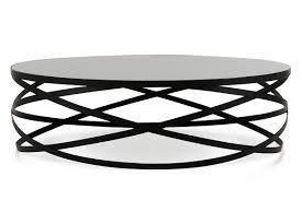 wixon modern black round coffee table