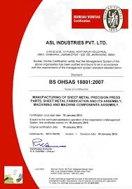 Asl Industries Ltd Bureau De Controle Veritas