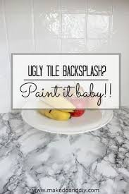 painted tiles for kitchen backsplash how to paint a tile backsplash painted tiles kitchens and house