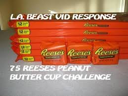 Challenge La Beast 75 Reese S Peanut Butter Cup Challenge L A Beast Response