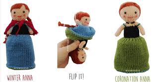 knit your own flip dolls of elsa u0026 anna from disney u0027s frozen