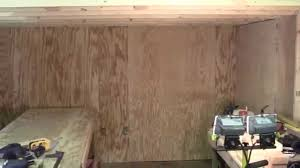 Interior Wall Lining Panels Shed Wall Finished With Plywood Youtube