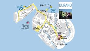 Map Venice Italy by Island Of Burano Burano U0027s Lace Italyinformation Eu The