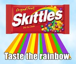 Taste The Rainbow Meme - live from the logosphere zelda rubinstein crosses the rainbow