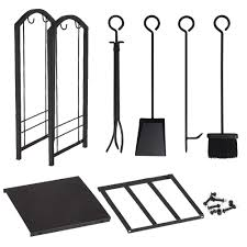 amazon com fireplace log rack with 4 tools indoor outdoor
