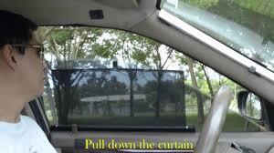 car curtain auto sun shade youtube