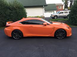 lexus rcf vossen mn 2015 lexus rc f rwd 467hp orange rocket mint shape as new
