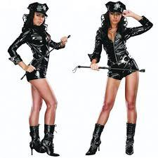 cheap womens costumes 2016 new women costume black pu zipper costumes