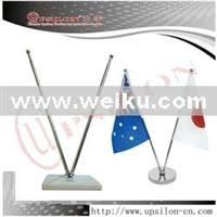 sigle hook telescopic steel desk flag pole shop for sale in china