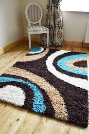 Small Shag Rugs New Extra Large Small Medium Brown Teal Cream Biscuit Modern Soft
