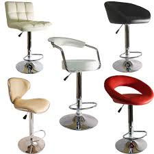 swivel breakfast bar stools faux leather kitchen breakfast bar stool barstools pu swivel new