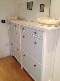 Ikea Stall Shoe Cabinet Hack Wedded Hemnes Shoe Cabinets Twined And Painted Ikea Hackers