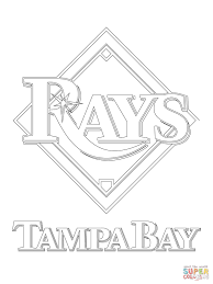 tampa bay rays logo coloring page free printable coloring pages