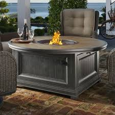 Patio Table With Firepit by Natural Gas Fire Pit Tables You U0027ll Love Wayfair