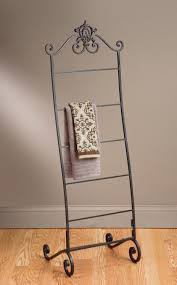 wrought iron towel stand for bathroom with classy look floor