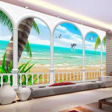 online get cheap wall mural 3d beach aliexpress com alibaba group