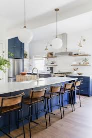 Blue Kitchen Island How To Choose The Right Bar Stools For Your Kitchen Island Or
