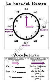 47 best qué hora es telling time images on pinterest spanish