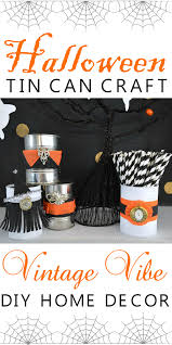 vintage halloween tin can craft fox hollow cottage