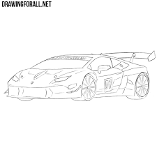 lamborghini logo sketch how to draw a race car drawingforall net