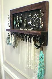 earring necklace organizer images Earring rack motido co jpg