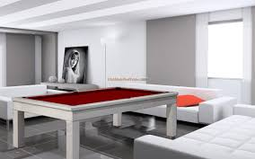 modern pool table game room with black modern pool table