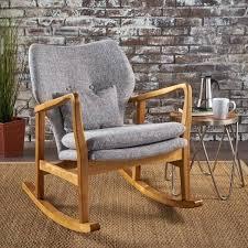 mid century modern rocking chair mid century modern fabric rocking