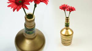 Nice Flower Vases Diy Wine Bottle Craft Turn Waste Wine Bottle Into Beautiful