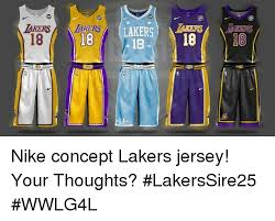 akersiakers rlakers 18 la nike concept lakers jersey your