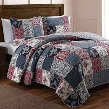 Blue Quilted Coverlet Buy Red Blue Quilted Bedding From Bed Bath U0026 Beyond