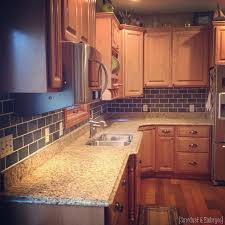 how to paint tile backsplash in kitchen painted backsplash slate subway tiles
