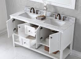 60 In Bathroom Vanity by Ackley 60 Inch White Finish Single Sink Bathroom Vanity Cabinet
