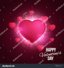 banner valentines day 14 february heart stock vector 352132202