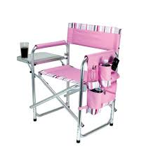 Pink Outdoor Furniture by Picnic Time Pink Sports Portable Folding Patio Chair With Stripes
