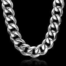 titanium curb chain necklace images Hip hop 24 inch 13mm cut steel color heavy titanium stainless jpg