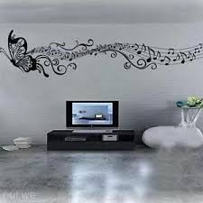 music note home decor art mural home decor wall room butterfly music notes removable decal