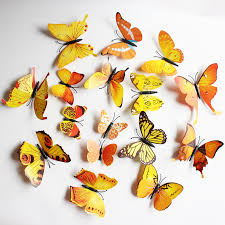 magnificent 3d butterfly wall contemporary wall design