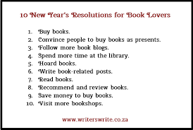 new year s resolutions books 10 new year s resolutions for book writers write