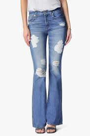 High Waist Bootcut Jeans High Waist Bootcut With Destroy In Rigid Blue Orchid 7forallmankind